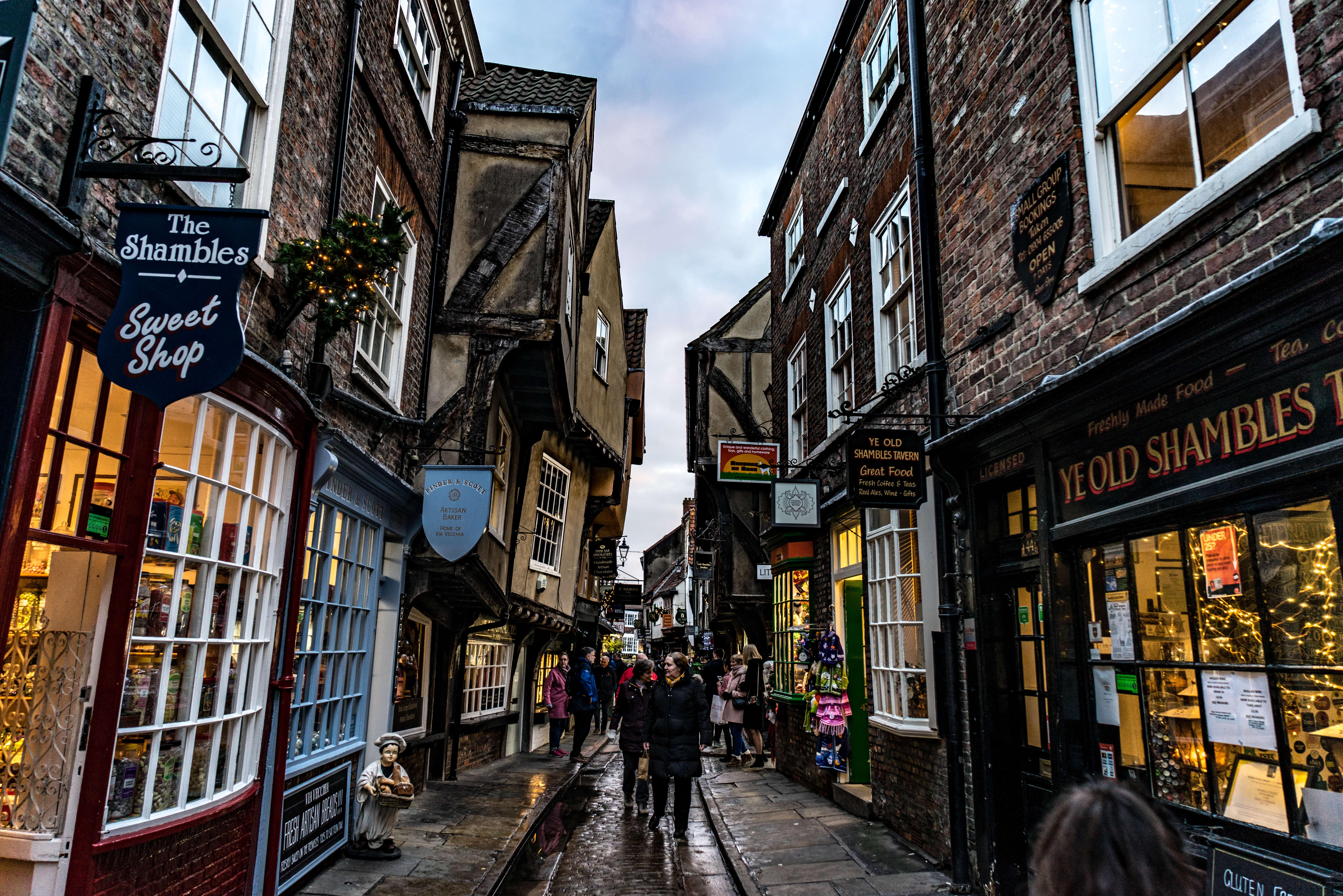 The shambles street, York